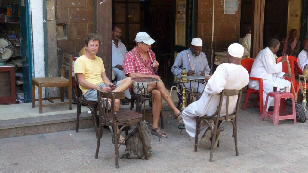 Café in der Nähe des Suks
